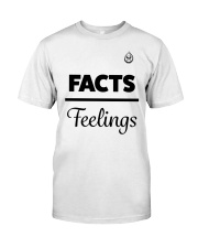 Facts Over Feelings Blk Classic T-Shirt front