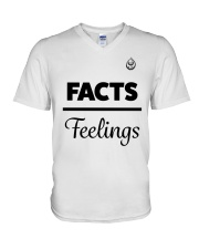 Facts Over Feelings Blk V-Neck T-Shirt thumbnail