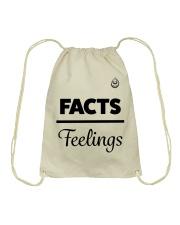 Facts Over Feelings Blk Drawstring Bag thumbnail