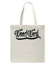WoodWork Signature Black Letter Tote Bag thumbnail