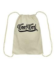 WoodWork Signature Black Letter Drawstring Bag thumbnail