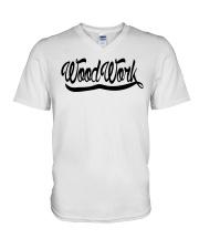 WoodWork Signature Black Letter V-Neck T-Shirt thumbnail
