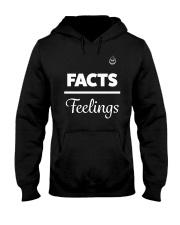 Facts Over Feelings Wht Hooded Sweatshirt thumbnail