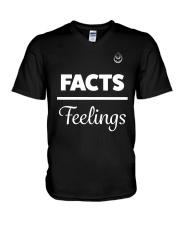 Facts Over Feelings Wht V-Neck T-Shirt thumbnail