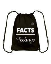 Facts Over Feelings Wht Drawstring Bag thumbnail
