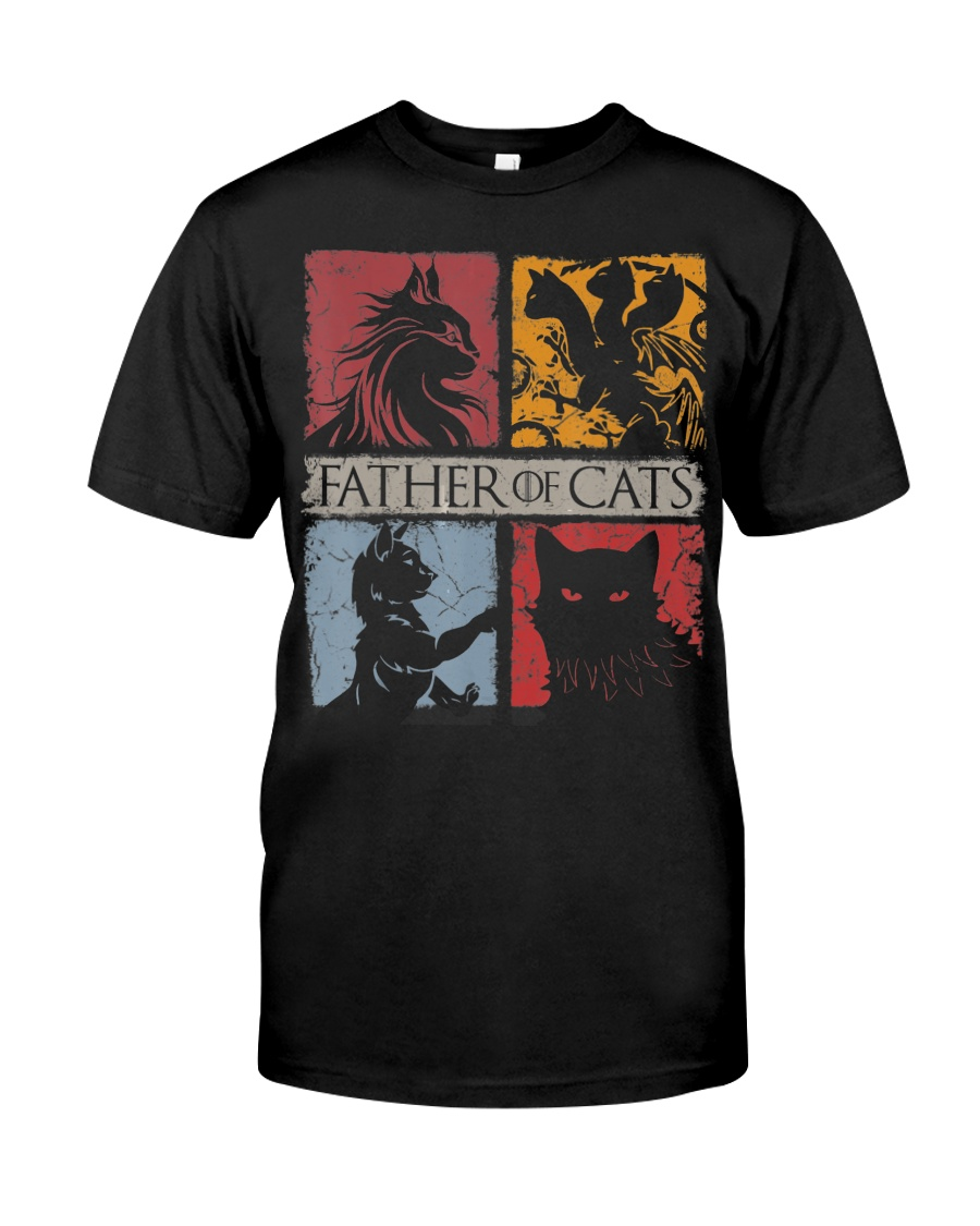 Father Of Cats Shirt Cat Lovers Cat Dad Fabulous G Classic T-Shirt
