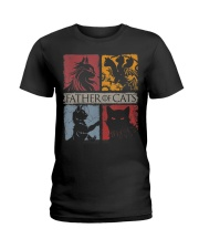 Father Of Cats Shirt Cat Lovers Cat Dad Fabulous G Ladies T-Shirt thumbnail