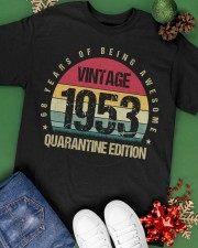 Vintage 1953 Quarantine Edition Birthday Classic T-Shirt apparel-classic-tshirt-lifestyle-back-69