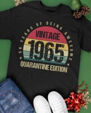Vintage 1965 Quarantine Edition Birthday Classic T-Shirt apparel-classic-tshirt-lifestyle-back-69