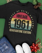 Vintage 1961 Quarantine Edition Birthday Classic T-Shirt apparel-classic-tshirt-lifestyle-back-69