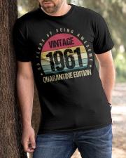 Vintage 1961 Quarantine Edition Birthday Classic T-Shirt apparel-classic-tshirt-lifestyle-front-51