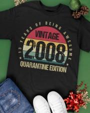 Vintage 2008 Quarantine Edition Birthday Classic T-Shirt apparel-classic-tshirt-lifestyle-back-69