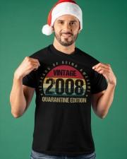 Vintage 2008 Quarantine Edition Birthday Classic T-Shirt apparel-classic-tshirt-lifestyle-front-85