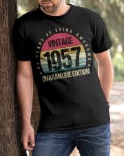 Vintage 1957 Quarantine Edition Birthday Classic T-Shirt apparel-classic-tshirt-lifestyle-front-51