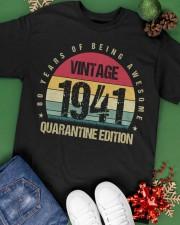Vintage 1941 Quarantine Edition Birthday Classic T-Shirt apparel-classic-tshirt-lifestyle-back-69