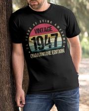 Vintage 1947 Quarantine Edition Birthday Classic T-Shirt apparel-classic-tshirt-lifestyle-front-51