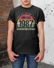 Vintage 1987 Quarantine Edition Birthday Classic T-Shirt apparel-classic-tshirt-lifestyle-31