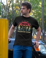 Vintage 1987 Quarantine Edition Birthday Classic T-Shirt apparel-classic-tshirt-lifestyle-front-44