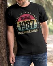 Vintage 1987 Quarantine Edition Birthday Classic T-Shirt apparel-classic-tshirt-lifestyle-front-51