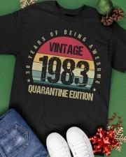 Vintage 1983 Quarantine Edition Birthday Classic T-Shirt apparel-classic-tshirt-lifestyle-back-69