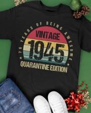 Vintage 1945 Quarantine Edition Birthday Classic T-Shirt apparel-classic-tshirt-lifestyle-back-69
