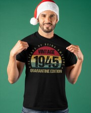 Vintage 1945 Quarantine Edition Birthday Classic T-Shirt apparel-classic-tshirt-lifestyle-front-85