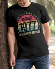 Vintage 1977 Quarantine Edition Birthday Classic T-Shirt apparel-classic-tshirt-lifestyle-front-51