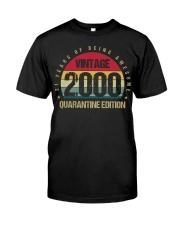 Vintage 2000 Quarantine Edition Birthday Classic T-Shirt front