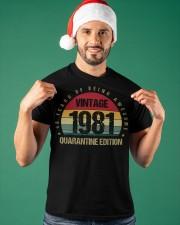 Vintage 1981 Quarantine Edition Birthday Classic T-Shirt apparel-classic-tshirt-lifestyle-front-85