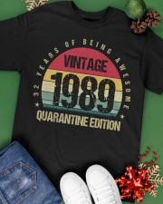 Vintage 1989 Quarantine Edition Birthday Classic T-Shirt apparel-classic-tshirt-lifestyle-back-69