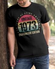 Vintage 1973 Quarantine Edition Birthday Classic T-Shirt apparel-classic-tshirt-lifestyle-front-51