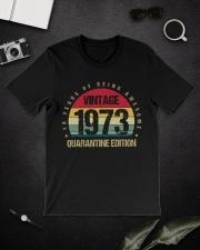 Vintage 1973 Quarantine Edition Birthday Classic T-Shirt lifestyle-mens-crewneck-front-16