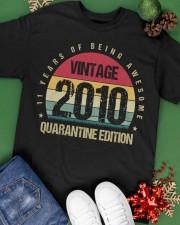 Vintage 2010 Quarantine Edition Birthday Classic T-Shirt apparel-classic-tshirt-lifestyle-back-69