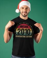 Vintage 2010 Quarantine Edition Birthday Classic T-Shirt apparel-classic-tshirt-lifestyle-front-85