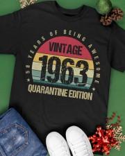 Vintage 1963 Quarantine Edition Birthday Classic T-Shirt apparel-classic-tshirt-lifestyle-back-69