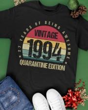 Vintage 1994 Quarantine Edition Birthday Classic T-Shirt apparel-classic-tshirt-lifestyle-back-69