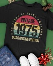 Vintage 1975 Quarantine Edition Birthday Classic T-Shirt apparel-classic-tshirt-lifestyle-back-69