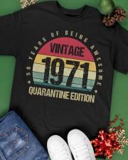 Vintage 1971 Quarantine Edition Birthday Classic T-Shirt apparel-classic-tshirt-lifestyle-back-69
