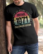 Vintage 1971 Quarantine Edition Birthday Classic T-Shirt apparel-classic-tshirt-lifestyle-front-51