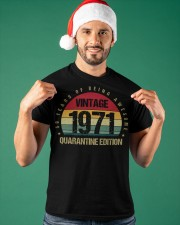 Vintage 1971 Quarantine Edition Birthday Classic T-Shirt apparel-classic-tshirt-lifestyle-front-85