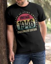Vintage 1946 Quarantine Edition Birthday Classic T-Shirt apparel-classic-tshirt-lifestyle-front-51