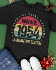 Vintage 1954 Quarantine Edition Birthday Classic T-Shirt apparel-classic-tshirt-lifestyle-back-69