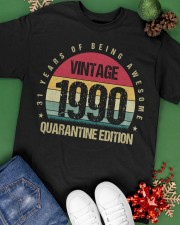 Vintage 1990 Quarantine Edition Birthday Classic T-Shirt apparel-classic-tshirt-lifestyle-back-69