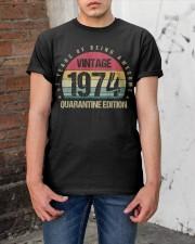 Vintage 1974 Quarantine Edition Birthday Classic T-Shirt apparel-classic-tshirt-lifestyle-31