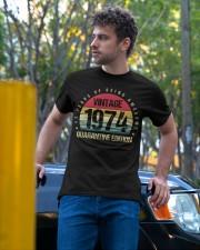 Vintage 1974 Quarantine Edition Birthday Classic T-Shirt apparel-classic-tshirt-lifestyle-front-44