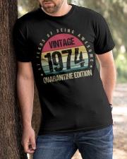 Vintage 1974 Quarantine Edition Birthday Classic T-Shirt apparel-classic-tshirt-lifestyle-front-51