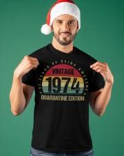 Vintage 1974 Quarantine Edition Birthday Classic T-Shirt apparel-classic-tshirt-lifestyle-front-85