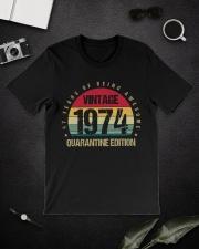 Vintage 1974 Quarantine Edition Birthday Classic T-Shirt lifestyle-mens-crewneck-front-16