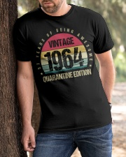 Vintage 1964 Quarantine Edition Birthday Classic T-Shirt apparel-classic-tshirt-lifestyle-front-51