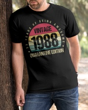 Vintage 1988 Quarantine Edition Birthday Classic T-Shirt apparel-classic-tshirt-lifestyle-front-51